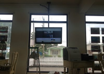 ceiling mounted Television project at a location.