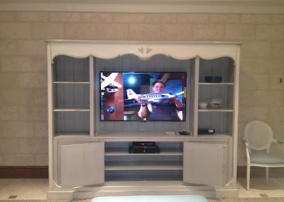 Finished Entertainment Room at a location.