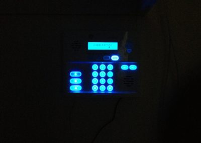 Security control Keypad installed at a location.